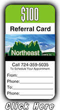 Get a $100 Referral Card when you refer a friend to Northeast